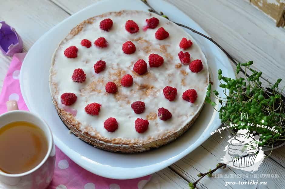 Вкусный бисквитный пирог