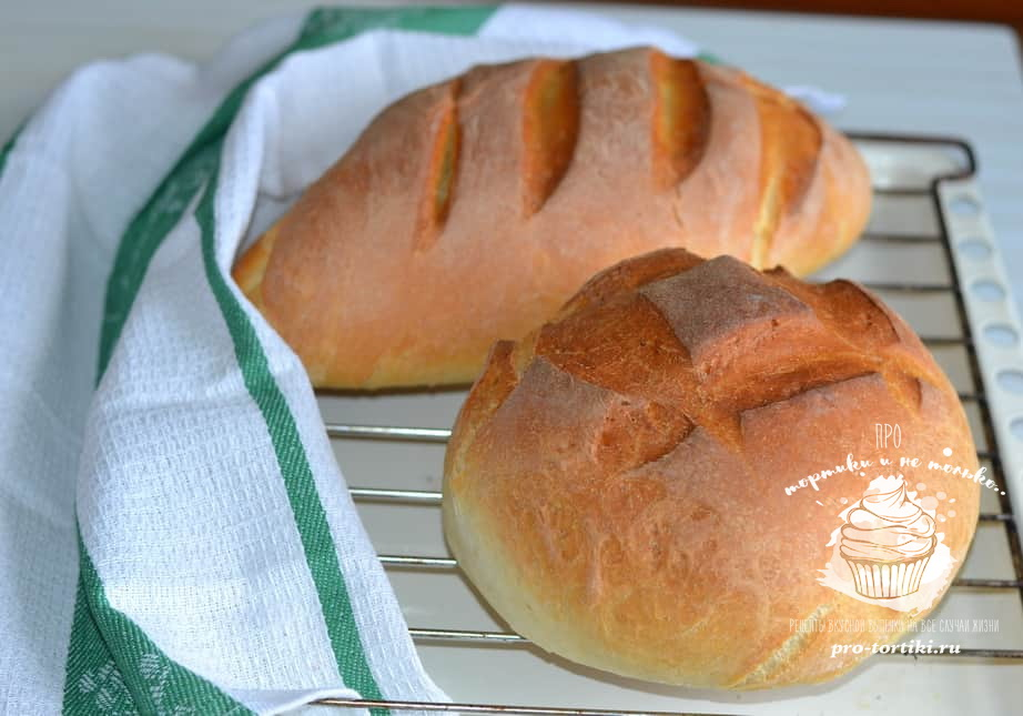домашний хлеб в духовке