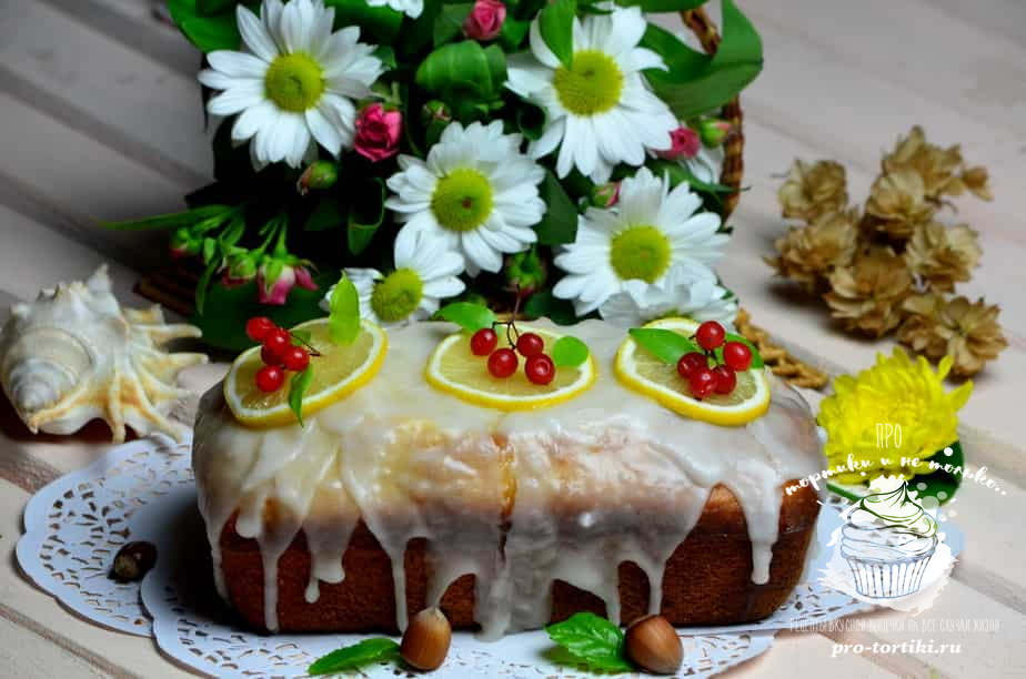 Простой лимонный кекс