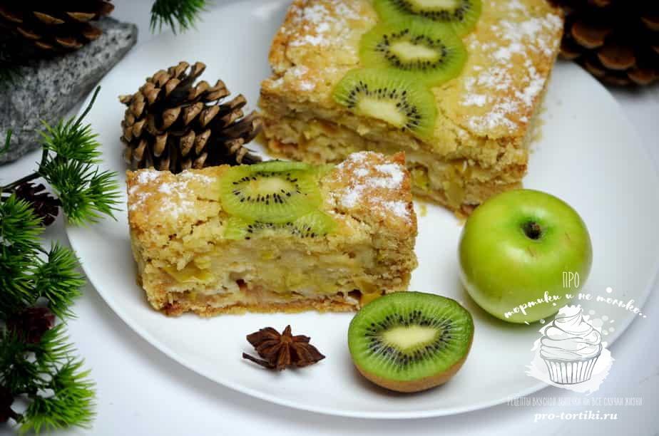Пирог на майонезе сладкий с яблоками рецепт пошагово