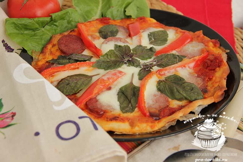 Рецепт приготовления пиццы в домашних условиях из колбасы