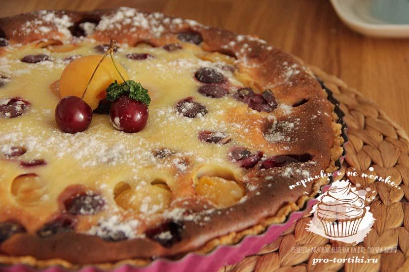пирог со сметаннойзаливкой