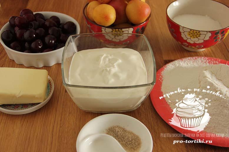 пирог со сметанной заливкой