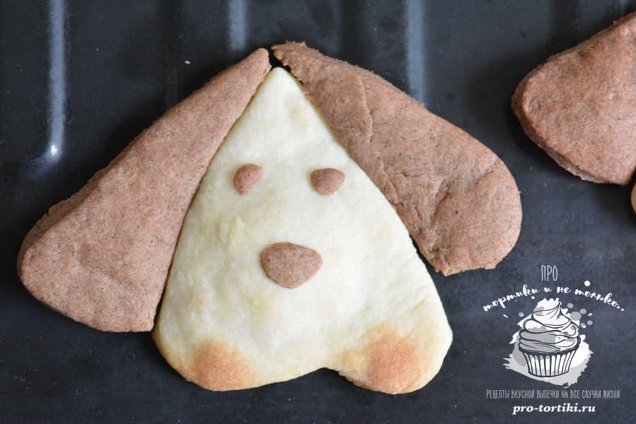 Новогоднее печенье Собачки