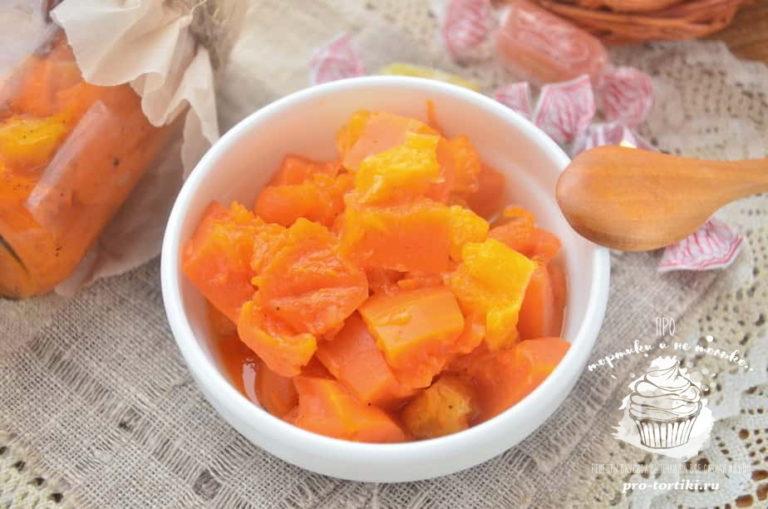 Варенье из тыквы с апельсином рецепт видео