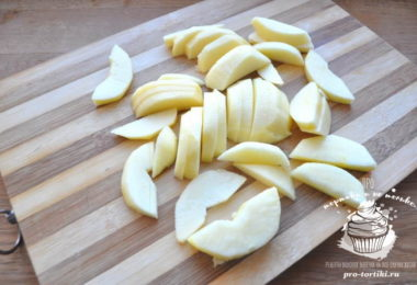 галета с яблоками