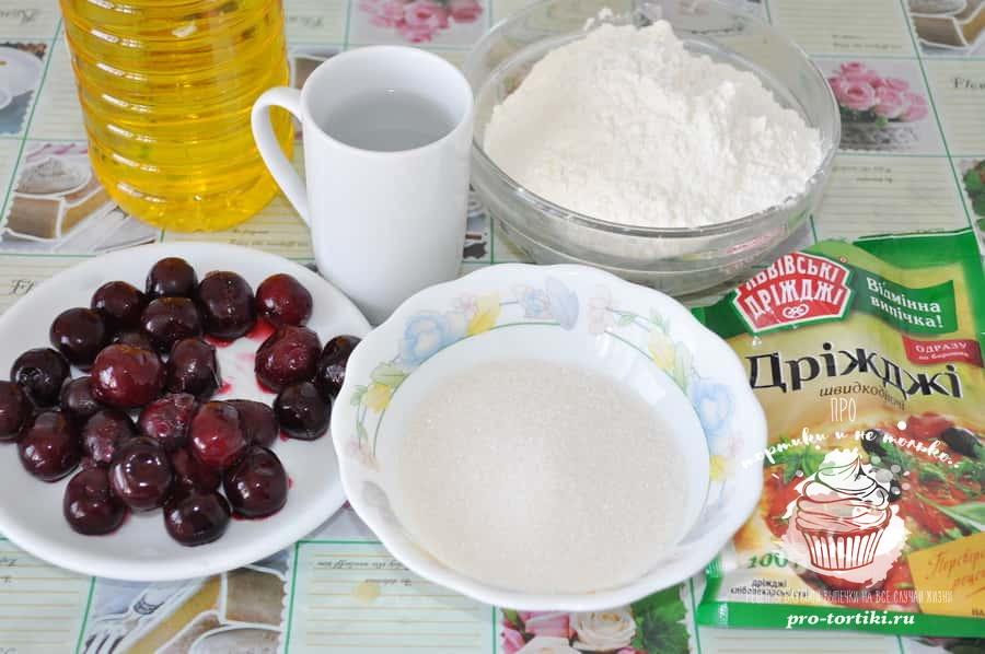 пирожки с вишней в духовке рецепт с фото из дрожжевого