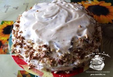 домашний торт сметанник