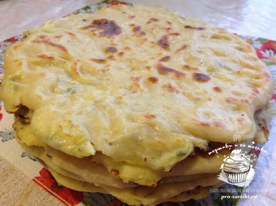 хачапури с картофелем и творогом