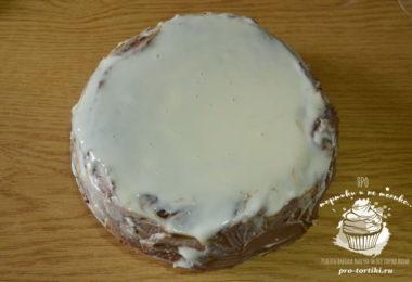 новогодний торт с масляным кремом