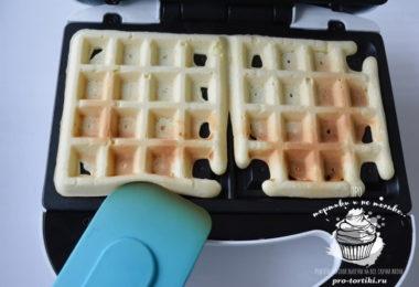 бисквитные вафли в электровафельнице