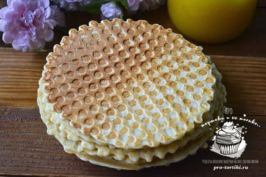медовые вафли в электровафельнице