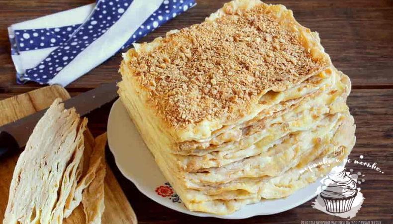 Как испечь вкуснейший торт Наполеон с заварным кремом в домашних условиях